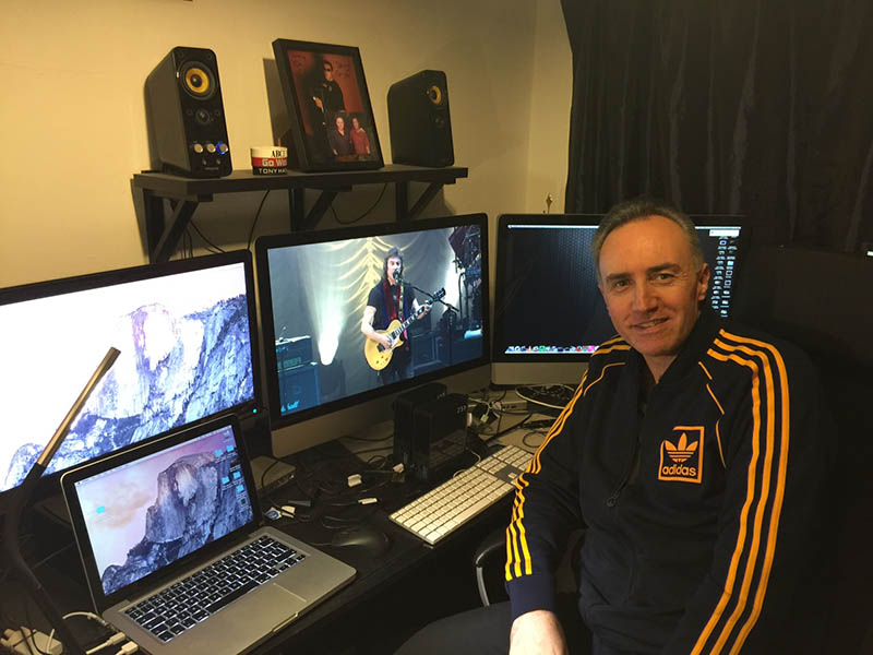 Paul Green working on the Live in Liverpool DVD footage.