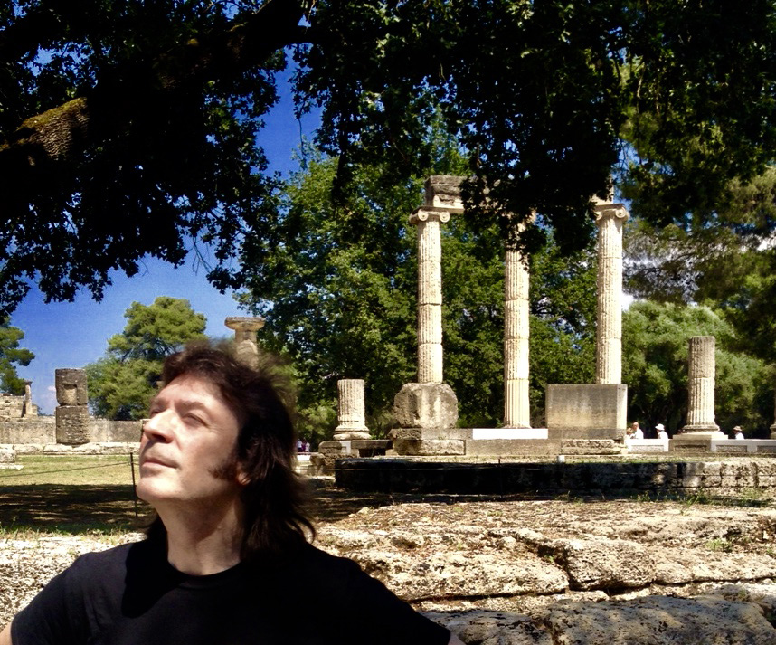 Steve in ancient Olympia, Greece