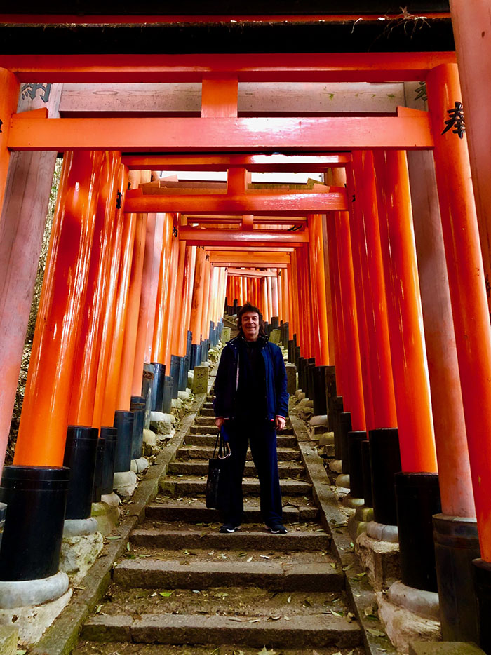 Peace - climbing the Inari Mountain shrine steps in Kyoto, Japan which inspired the song...