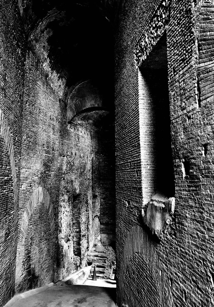 Descent - Ancient tunnel descending to the Forum in Rome