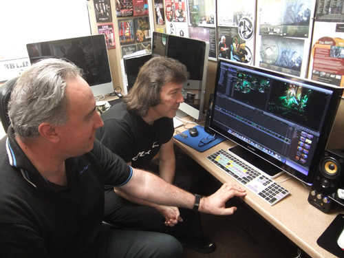 Steve and Paul Green on the DVD edit