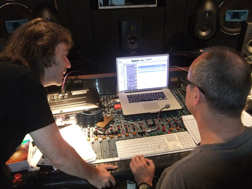 Steve with Ben Fenner on the 5.1 sound mix