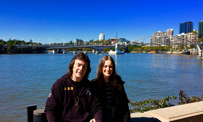 Steve and Jo in Brisbane