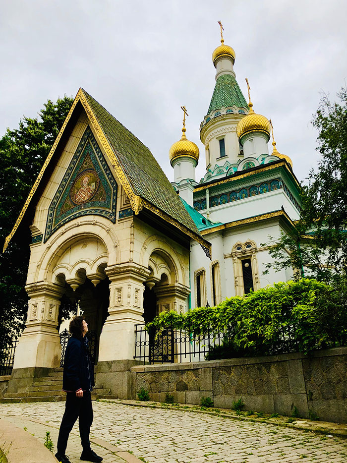 Steve looking at Russian Orthodox Church