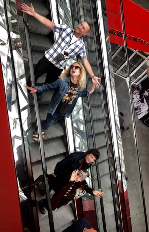 Jonas, Nad, Steve and Jo at the Rock and Roll Hall Of Fame