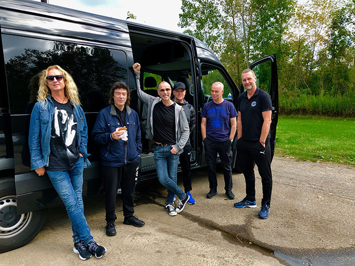 Band on the road...