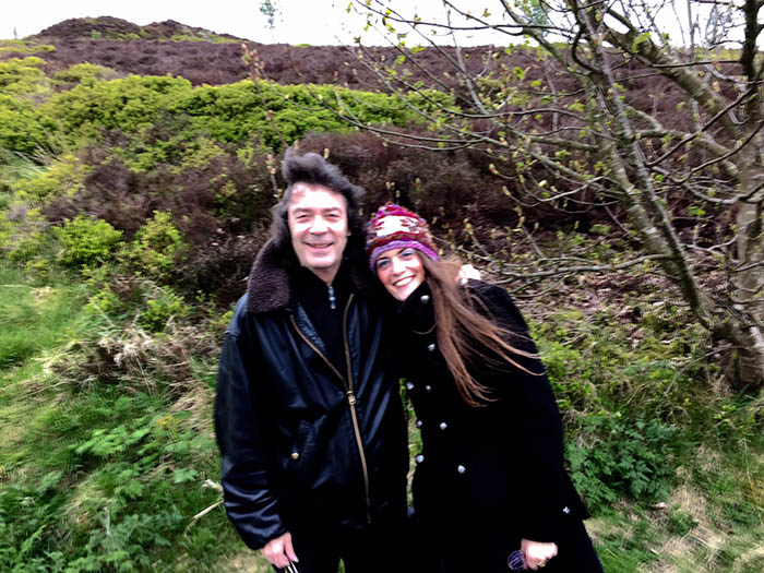 Steve and Jo on the Wuthering moorland