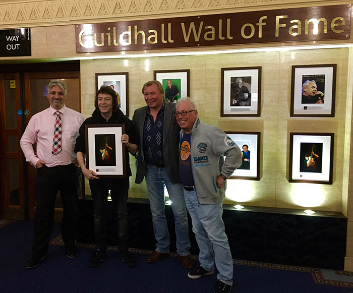 Steve becomes part of Portsmouth Guildhall Wall of Fame