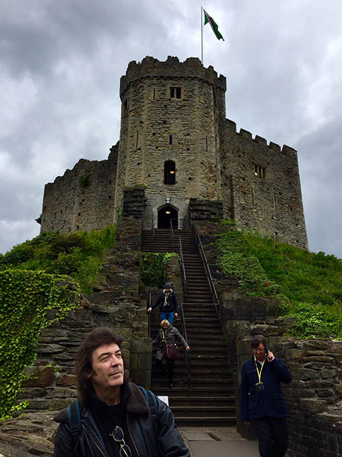 Steve at Cardiff Castle