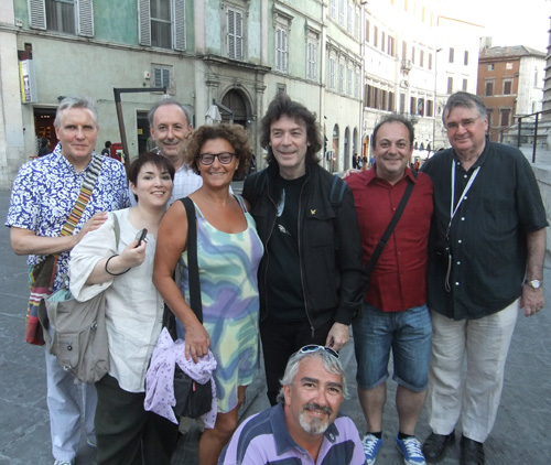 Nick, Stefania, Mino, Laura, Steve, Silvio (in front), Guiseppe, Peter