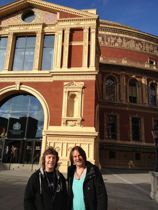 Steve and Ray Wilson outside the Royal Albert Hall