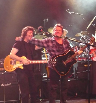 Steve with John Wetton at London Shepherds Bush Empire