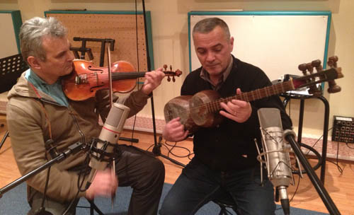 Ferenc on violin and Malik on tar