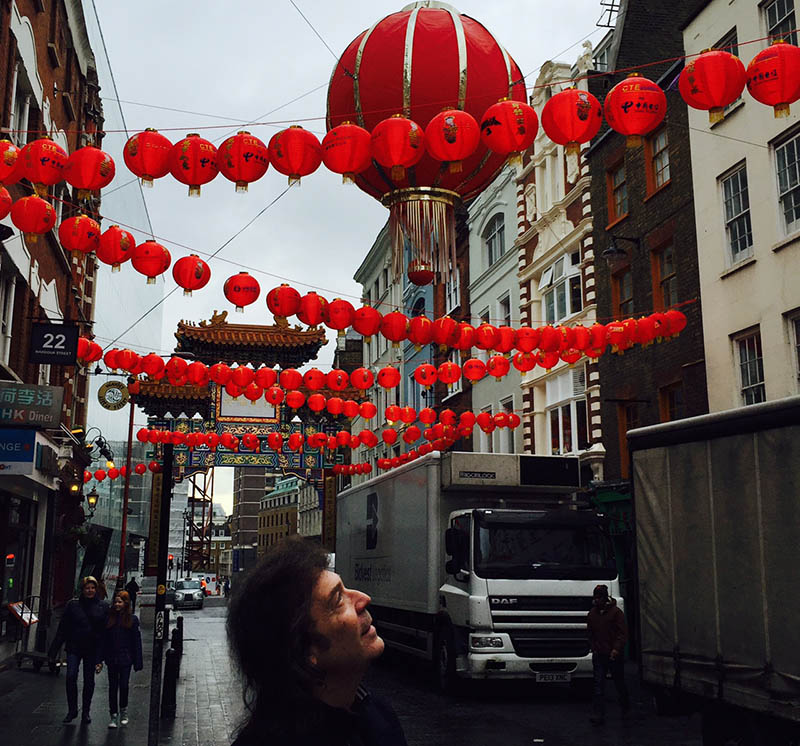 Dragons and red lanterns