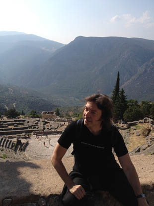 Steve in mountainous Delphi