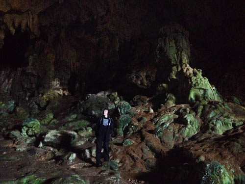 In the caverns
