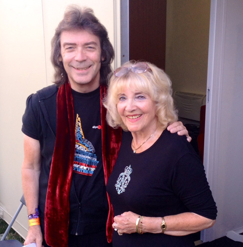 Steve and his mum June backstage