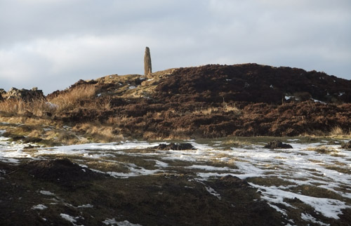 Neolithic monolith near the Lion Inn on the moor