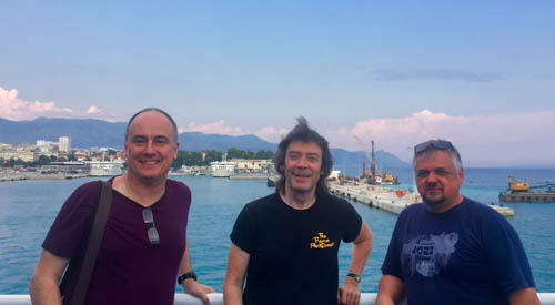 Ben, Steve and Attila on boat bound for Korcula