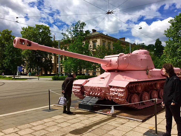 Pink tank in Brno