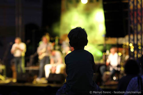 A child enjoying the band