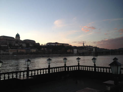 Budapest and the Danube at sunset