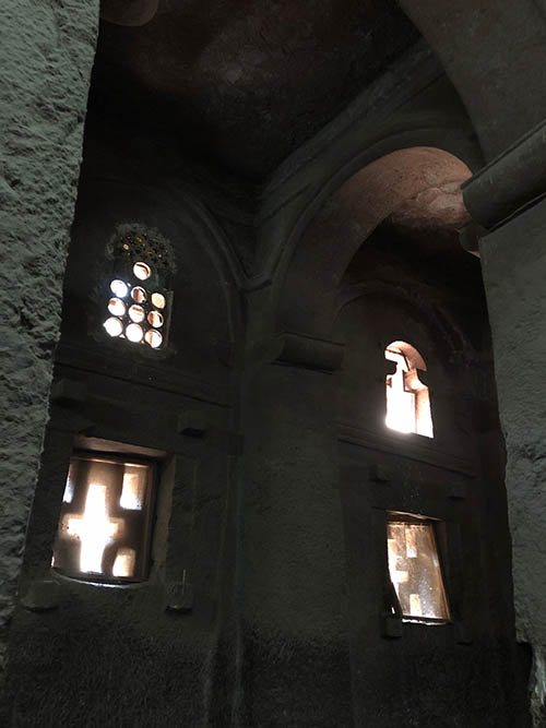 Lalibela - a rock church interior