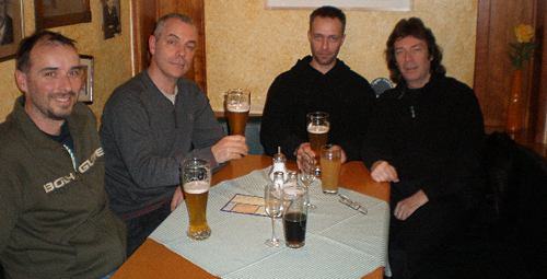 Rob, Roger and Steve with his son Oliver in Aschaffenburg