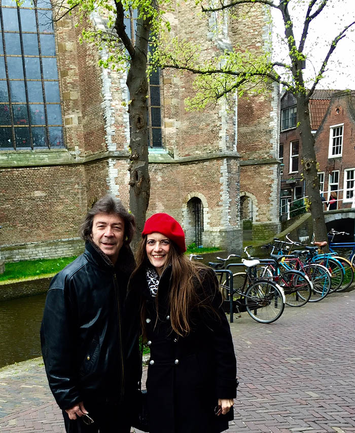 Steve and Jo in Delft, Holland