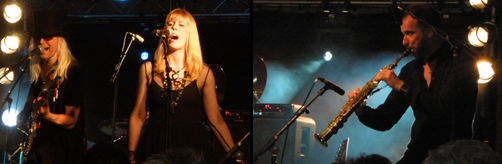 Nick Beggs, Amanda Lehmann and Rob Townsend  - electric gig at Steve Hackett Event