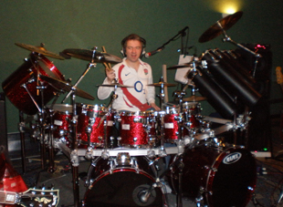 Gary with splendid new drum kit