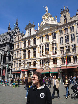 Steve in La Grande Place, Brussels