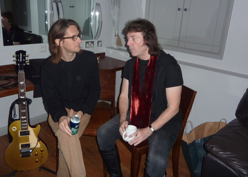 Steve with Steven Wilson backstage at Hammersmith