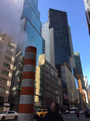 The steaming city of New York