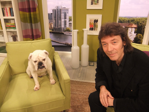 Steve with SAT1 TV famous dog Lotte