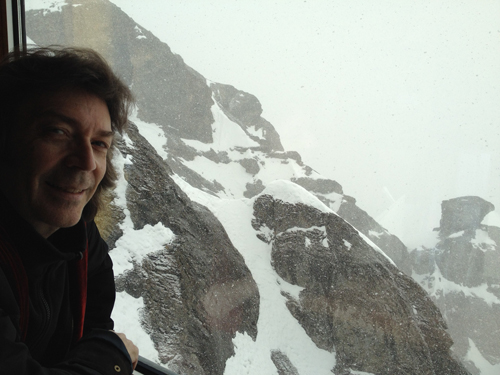 En route to the summit of Mount Titlis