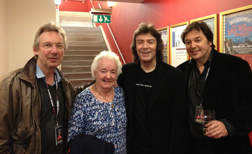Brian Coles, Steve's Auntie Margaret, Steve and brother John in Sheffield