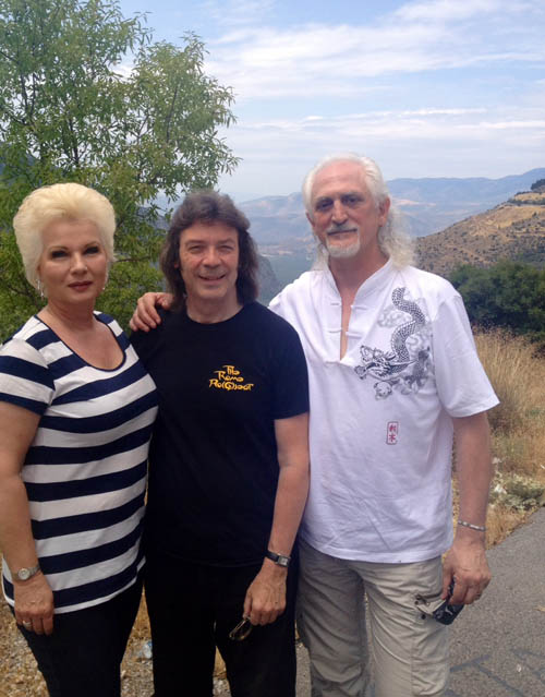 Steve with Angela and Maurizio, Delphi