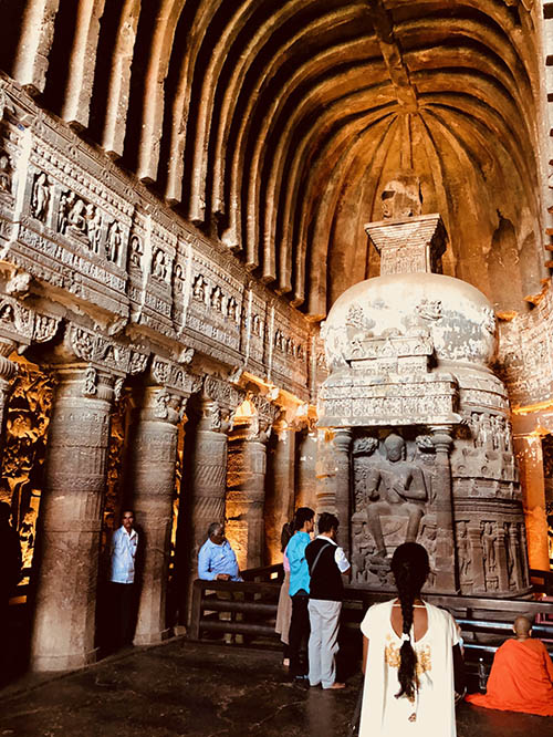One of the Ajanta cave temples