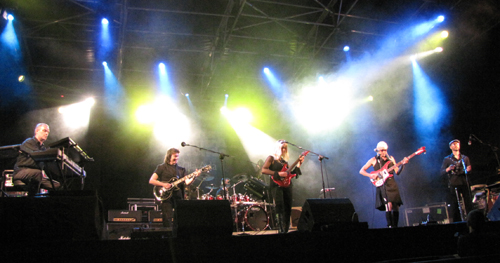 The Steve Hackett band at Villa Ada, Roma