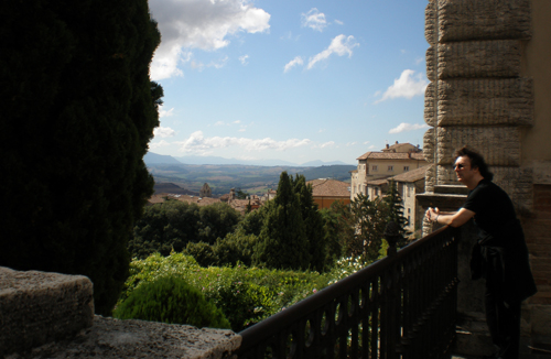 Balcony with a view, Todi