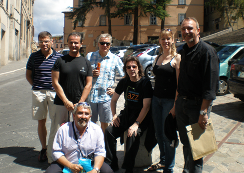 Christian, Marco, Silvio, Nick C, Steve, Amanda and Claudio, Todi