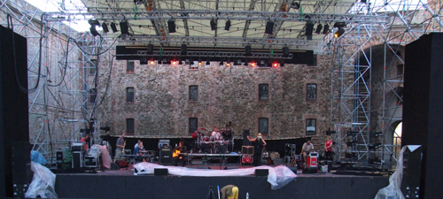 Savona soundcheck - The rain cleared just in time!