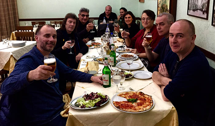 Italian meal just before the show...