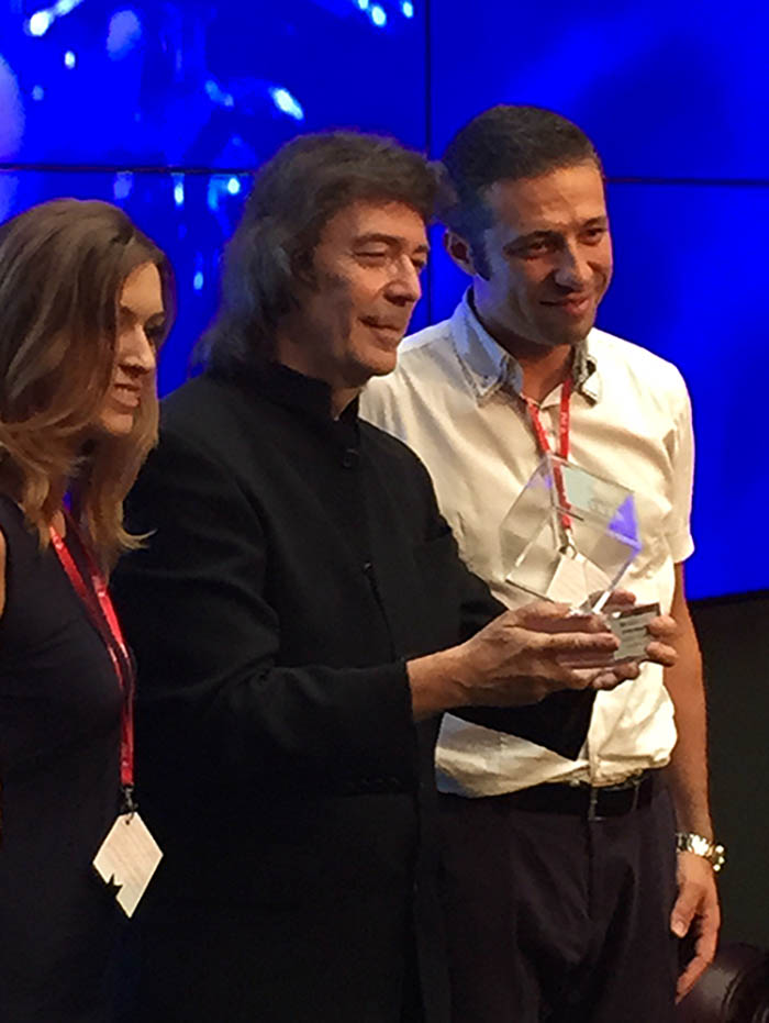 Steve receives his FIM Award