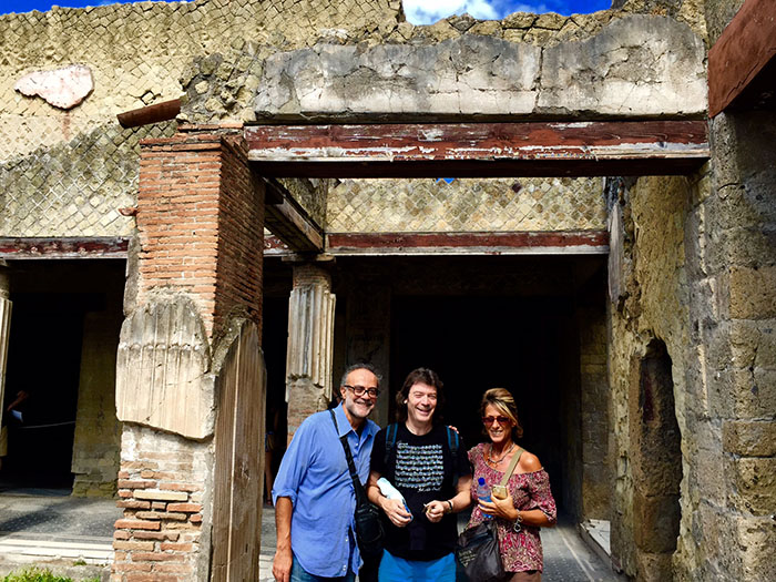 Mario, Steve and Ada in Herculaneum