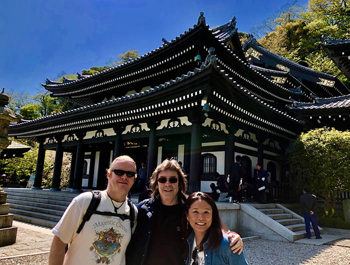 Steve with Nathan and Noriko at the Hasedera Temple, Kamakura
