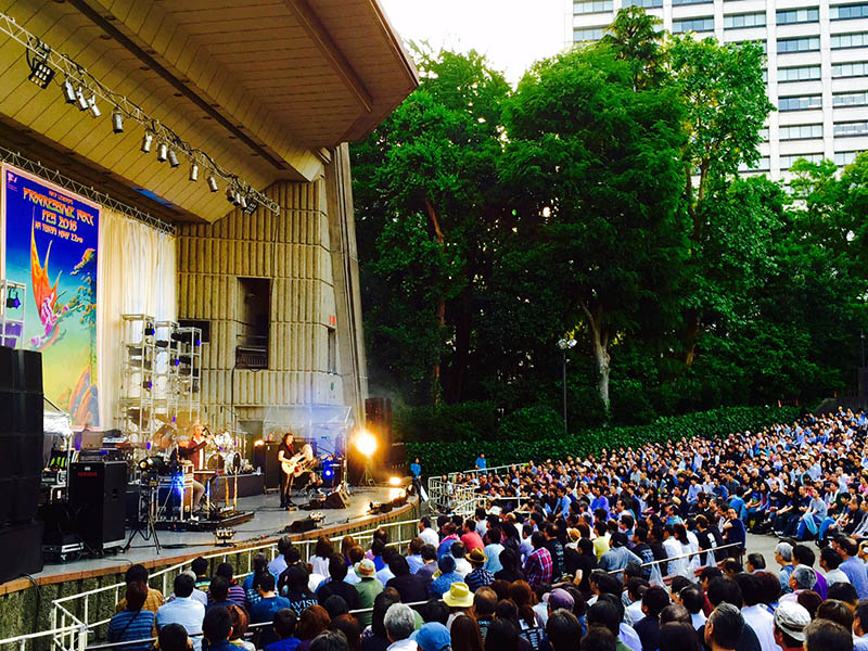 Gig at Festival, Hibiya Open Air Theatre
