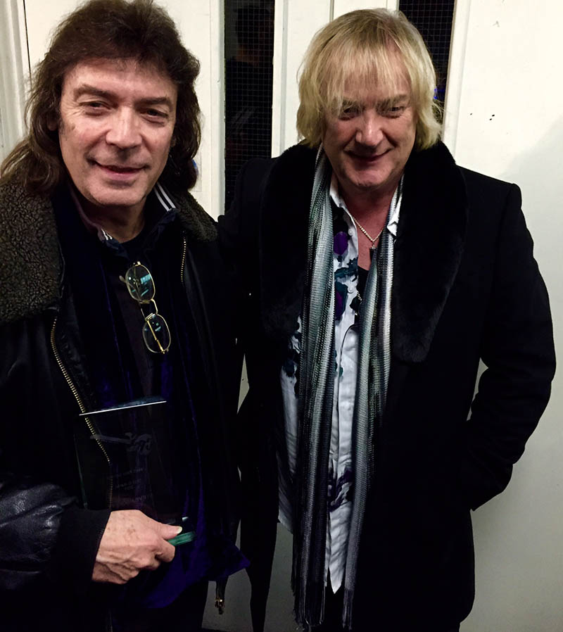 Steve with his CRS Award with host of the evening, Geoff Downes