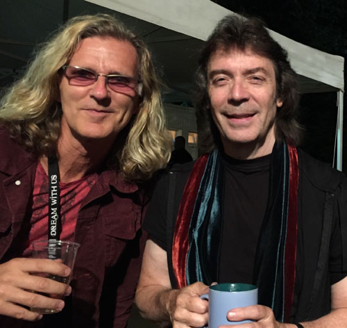 Steve with Roine Stolt who'll join the band in September